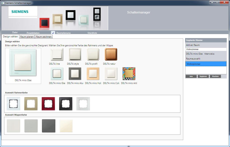 Schaltermanager Produktkonfigurator